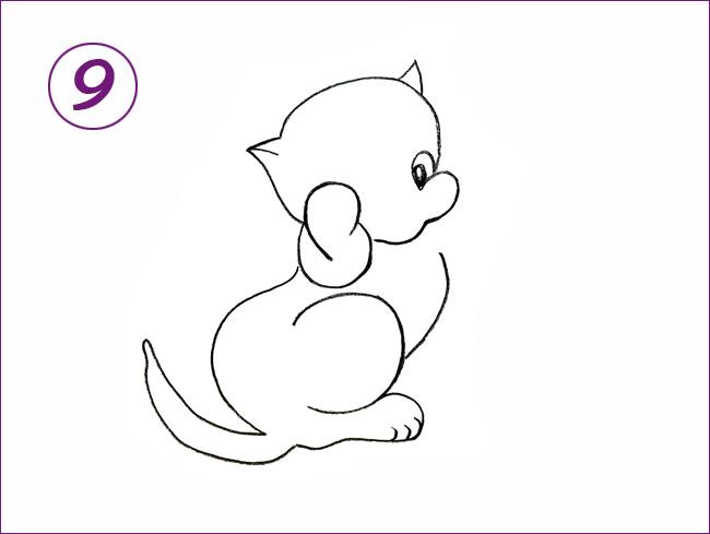 котенок шаг 9
