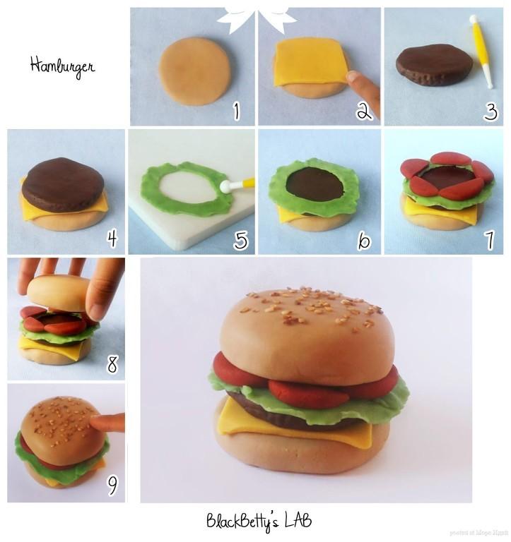 гамбургер из пластилина