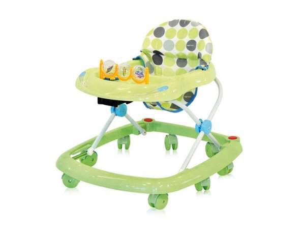 зеленые ходунки для малыша